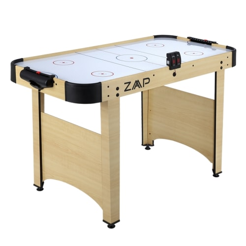 OPEN BOX ZAAP Electric Air Hockey Table with Electronic Scoring - 4 Foot with Full Height Legs - Pucks and Pushers Included