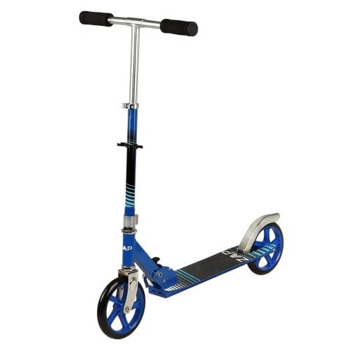 ZAAP Pro X1 Folding Kick Scooter with Adjustable Handlebar - Blue