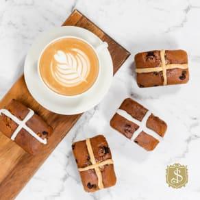 A twist on Tradition - Hot Cross Bar & Coffee $10.50
