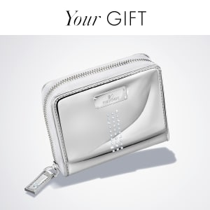 Receive a free Metallic Wallet valued at $69 with any purchase of $200 or more*