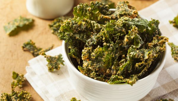 Snack: kale chips