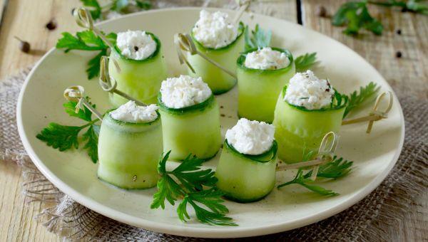 34. Cucumber and cream cheese