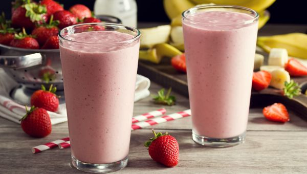 77. Strawberry and banana smoothie