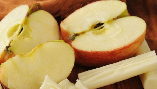 56. Apple and string cheese