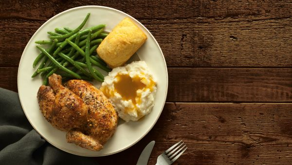 Boston Market: Rotisserie Chicken with Veggies