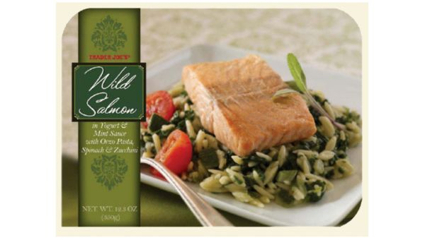 Wild salmon in yogurt and mint sauce