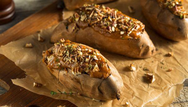 Loaded Morning Sweet Potatoes