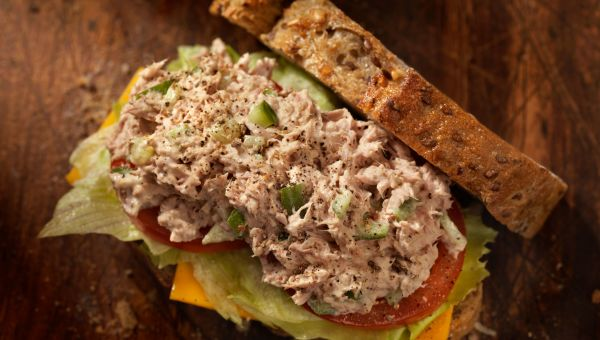 High-calorie tuna salad