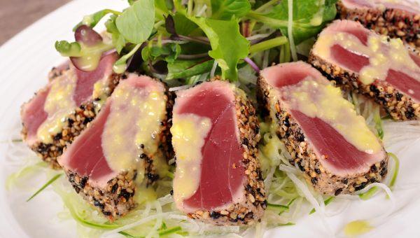 Hawaiian Blackened Tuna with Mango Salsa Recipe