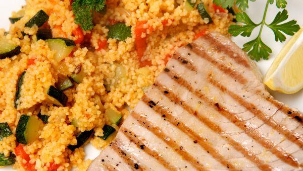 Braised Mahi Mahi with Couscous Recipe