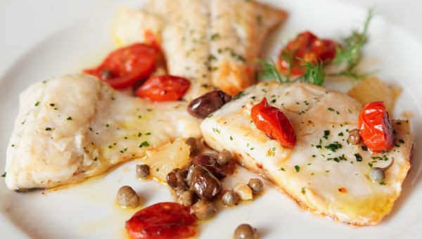 Baked Trout Fillets with Horseradish-Caper Glaze