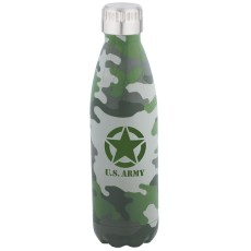 17 oz. Patterned Double Wall Stainless Bottle