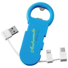 Bottle Opener with 3-in-1 Charging Cable