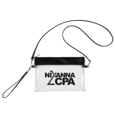 Game Day Clear Wristlet Pouch