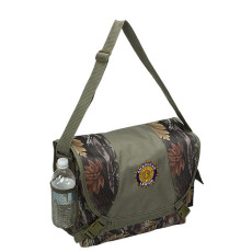 Monogrammed Camo Laptop Messenger