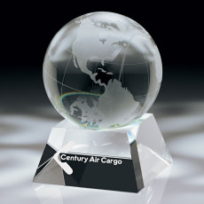 Custom Printed Crystal Globe