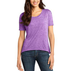 District Juniors Microburn Wide Neck Hi/Lo Tee