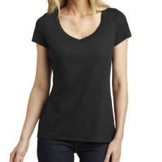 District Made Ladies Shimmer V-Neck Tee (Apparel)
