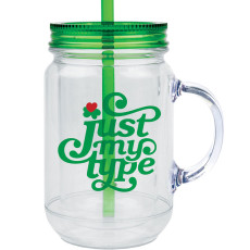 20 oz. Double Wall Acrylic Mason Jar