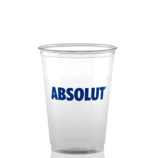 10 oz. Soft Sided Clear Plastic Cups