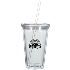 16 oz. Newport Acrylic Tumbler With Mood Straw