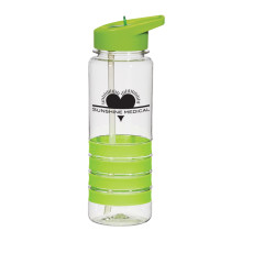 24 oz. Tritan™ Banded Gripper Bottle With Straw