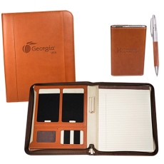 Tuscany Portfolio Power Bank and Pen Gift Set