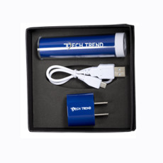 Micro-Cylinder Power Bank & Wall Charger Set