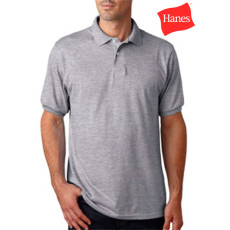 Medium Stedman by Hanes 5.5 oz 50//50 Jersey Knit Polo in Navy