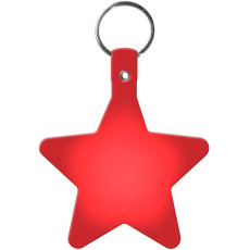 Imprintable Star Flexible Key-Tag