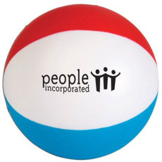 Imprinted Beach Ball Stress Reliever