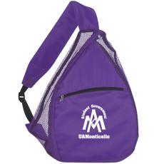 Imprinted Mesh Sling Backpack