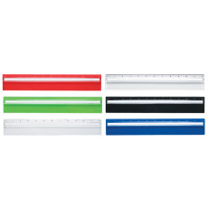 """Imprinted Plastic 12"""" Ruler With Magnifying Glass"""