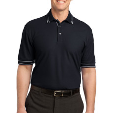 Port Authority Silk Touch Tipped Polo