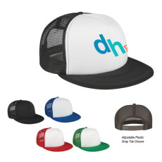Printable Flat Bill Trucker Cap