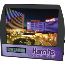 Promotional-Scrolling-message-clock-AM/FM-radio-photo-frame