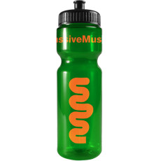 Promotional 28 oz. Transparent Color Bottles