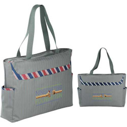 Custom Dapper Zippered Business Tablet Tote