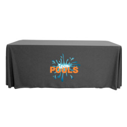 Full Color 6' 3 Sided Table Cover