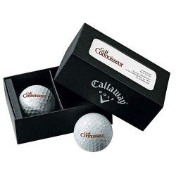 Promotional Callaway® 2-Ball Business Card Box HEXBlack Tour