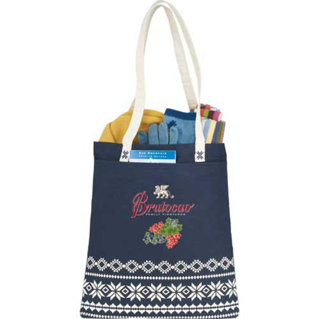 Personalized Fair Isle Cotton Tote