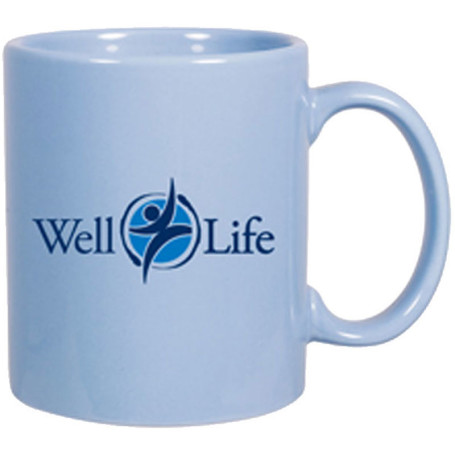 11oz Custom Imprinted Glossy Ceramic Mug