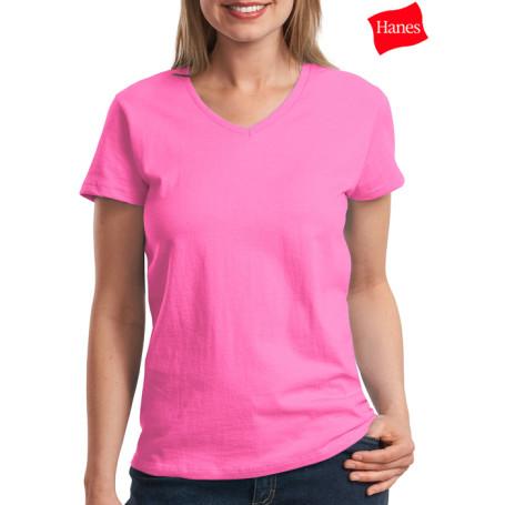 Hanes Ladies Comfortsoft V-Neck T-Shirt