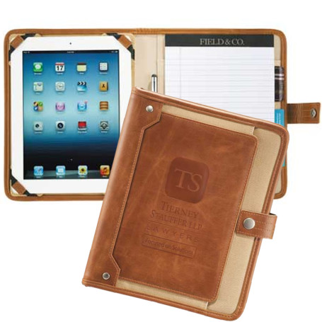 Custom Field & Co. Cambridge eTech Writing Pad -Open-Printed