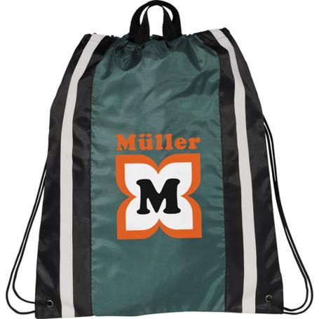 Custom Logo Reflective Drawstring Cinch Backpack