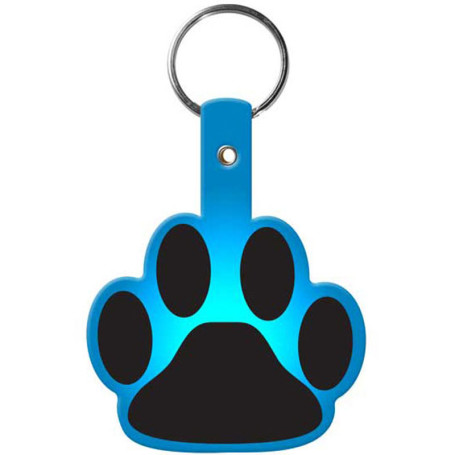 Custom Printed Paw Flexible Key-Tag