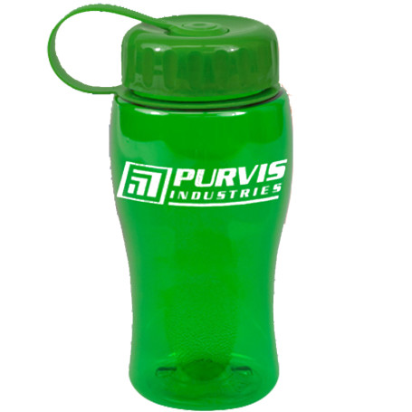 Customizable 18 oz. Poly-Pure Bottle with Tethered Lid