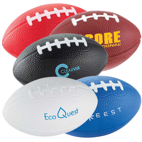 "Customizable 3-1/2"" Football Stress Reliever"