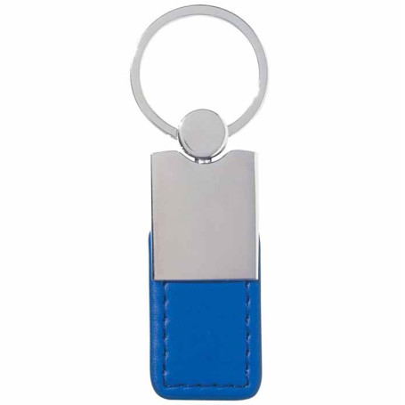 Customizable Metal Simulated Leather Key Tag