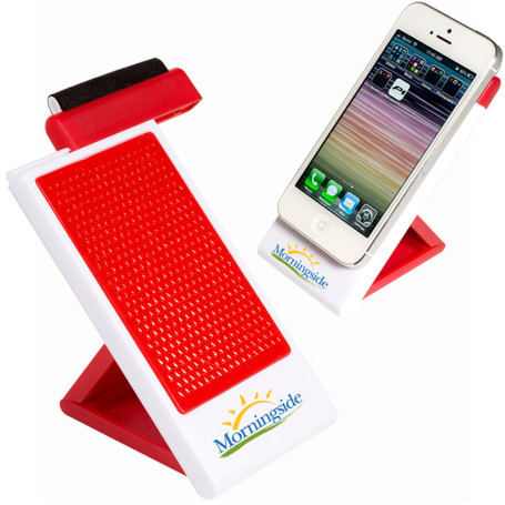 Customizable Mobile Phone Holder with Screen Cleaner